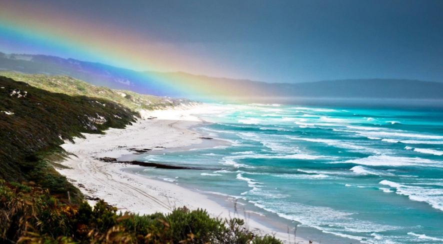 Ray of light over Boranup Beach