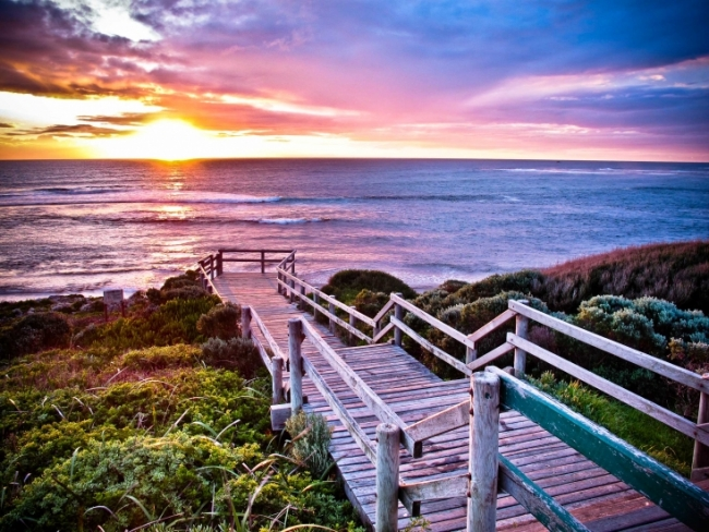 Stairway to sun at Margaret River Surfers Point