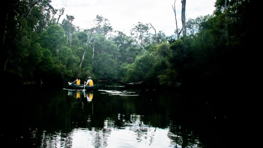 Canoeing Margaret River Early Morning Tranquility