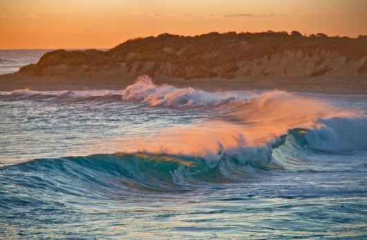 Sunset glow over Margaret River mouth