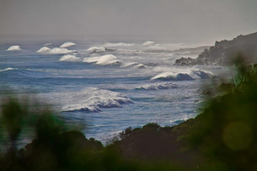 Thumping surf up and down the Margaret River coastline.