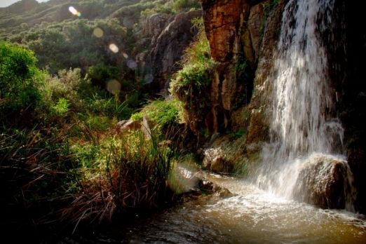 Secret waterfall in the Margaret River region