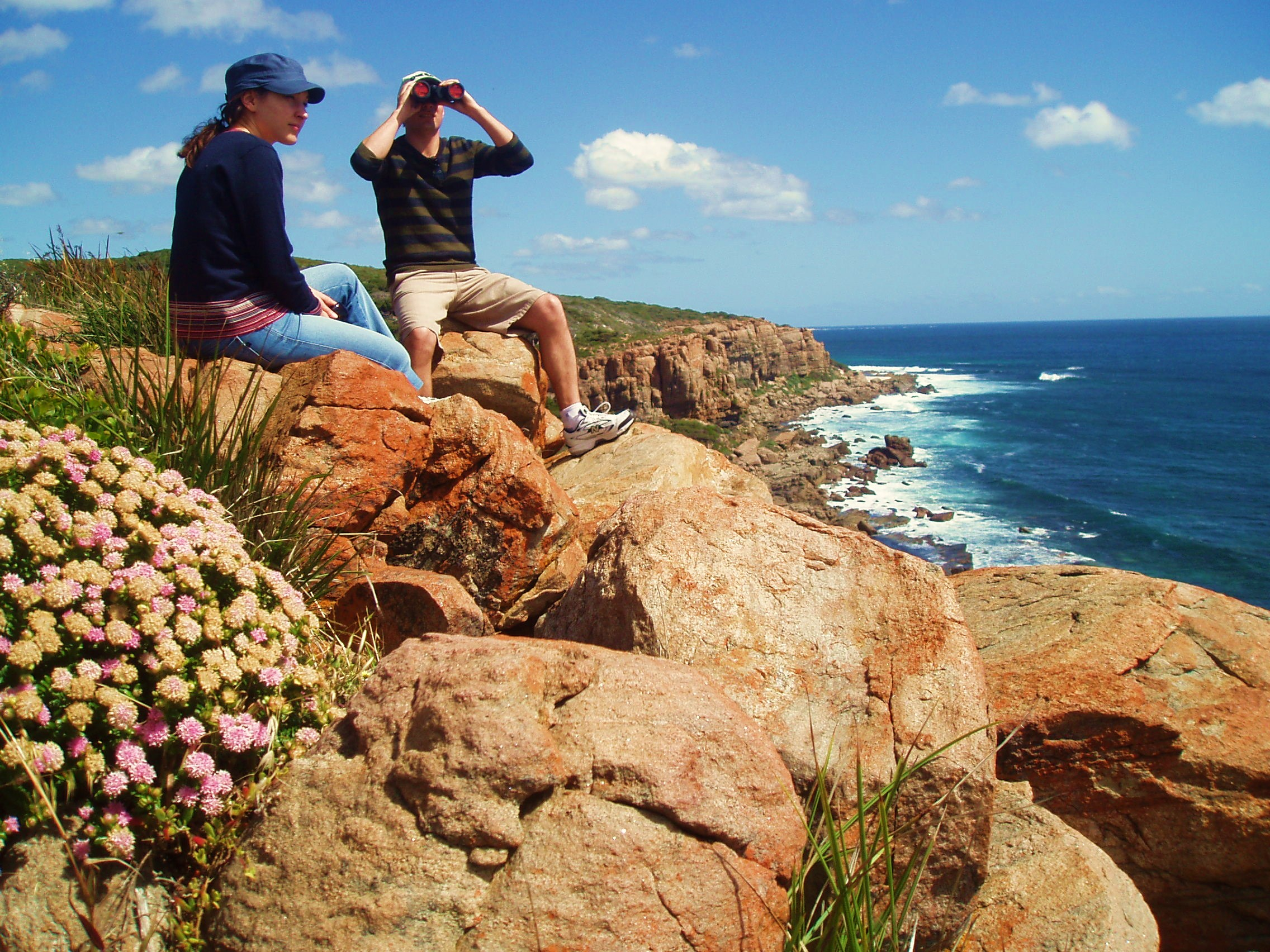 Mark and Alexis from Sydney atop the Wilyabrup Cliffs