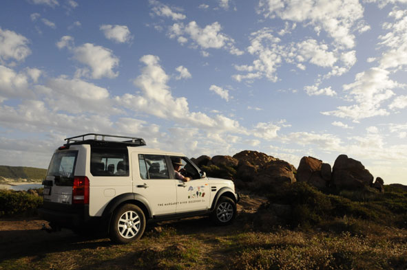 The Margaret River Discovery Co luxury Landrover.