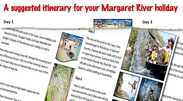 Suggested Itinerary For Margaret River