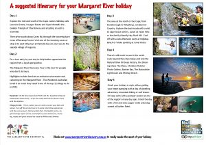 Margaret River discovery co suggested itinerary 2012