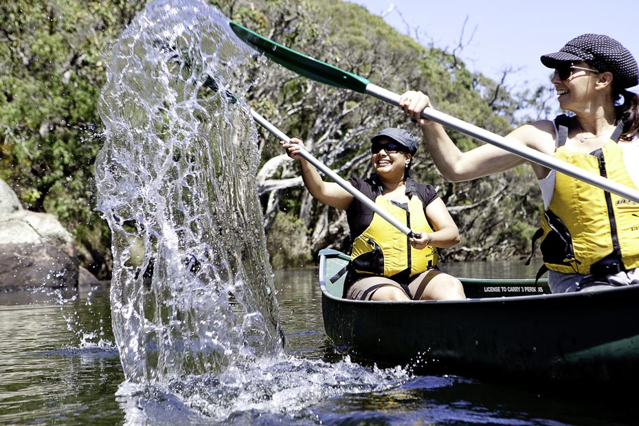 Canoeing the Margaret River with Margaret River Discovery Co.