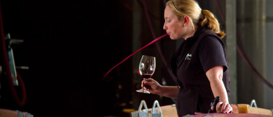 tasting Margaret River wine