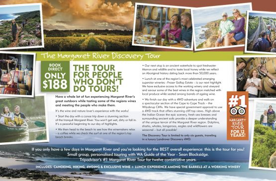 NEW 2020 brochure for Margaret River Discovery Co
